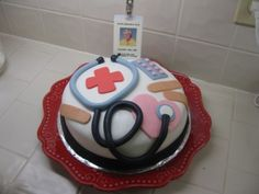 I've always viewed making fondant cakes or three dimensional cakes for that matter as a complete different field from pastry making; Fondant Cakes, Cupcake Cakes, Medical Cake, Doctor Cake, Making Fondant, School Cake, White Chocolate Ganache, Cake Craft, Holiday Cakes