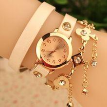 10f9b066709 Pulseira de relógio acessórios de Poker corrente de ouro jóias relógio de  pulso de couro relógio. Relogio Feminino ...