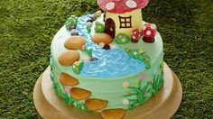 No party is complete without a birthday cake, and this fairy garden is simply magical! It's made easy with cake mix, ready-made frosting and lots of candy and sprinkles.