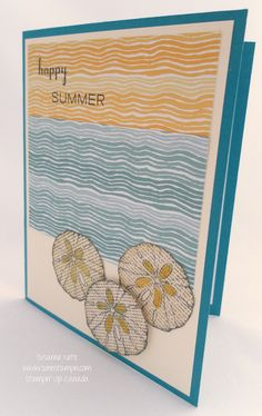 Handmade card featuring Stampin' Up! products created by SuNN Stampin'. Nautical Cards, Beach Cards, Sea Theme, Beautiful Handmade Cards, Happy Summer, Card Making Inspiration, Handmade Birthday Cards, Cute Cards, Stampin Up Cards