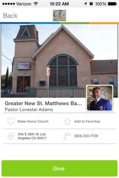Greater New St. Matthews Baptist Church in Los Angeles, California #GivelifyChurches