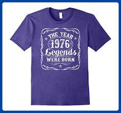 Mens 1976 The Year Legends Were Born T-Shirt 41st Birthday Gift 2XL Purple - Birthday shirts (*Amazon Partner-Link)