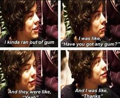 Why do you even talk? Who allows harry to speak?