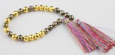 """1 Strand Fine AAA Pyrite & Gold Pyrite Faceted Rondelle 6-7mm Gemstone 7"""" Long"""