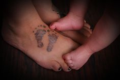 My heart and soul. My daughter. Her footprints are on my right foot. She is with me every step. Most meaningful tattoo. _Kirsten Marie