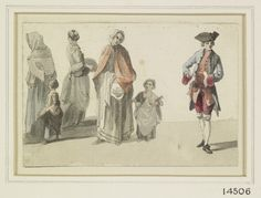Paul Sandby (1731-1809) Street characters  circa 1747circa 1760  Pen and ink and watercolour | 7.5 x 11.1 cm (sheet of paper) | RCIN 914506