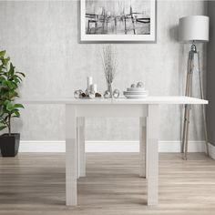 Buy White High Gloss Dining Table Extendable 6 Seater - Vivienne from - the UK's leading online furniture and bed store White Dining Table, Accent Chairs For Living Room, White Dining Room Decor, Faux Leather Dining Chairs, Dining Table, 4 Seater Dining Table, White Dining Chairs, White Dining Room Furniture, White Dining Set