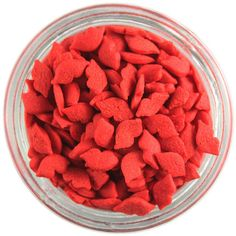 Red Kissing Lip Sprinkles from Layer Cake Shop!  Great for all your Valentines Day sweet treats!  #cakepop #cookies #cupcake #cake #quins