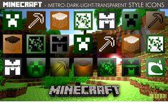 Minecraft - Mix Style Icons by xmilek.deviantart.com on @deviantART