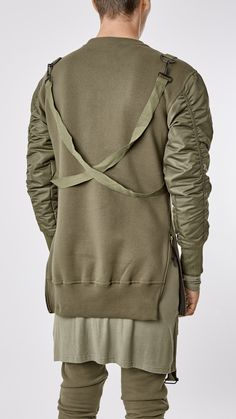 UNDERATED* B13 Flight Bomber Sweater, Military Green
