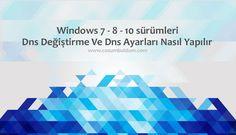 Windows 10Dns Değiştirme Ve Dns Ayarları Nasıl Yapılır Windows 7 kullanıcılarının en fazla zorluk çektikleri konulardan biri de hiç kuşkusuz windows 10 dns değiştirme ayarları konusudur. Birçok kullanıcıların oldukça zorluk çektiği bu konu hakkında yazımızda bilgi verme gereği duymaktayız.   #dns ayarlari nasil #dns degistirme #dns ip #guncel dnsler #windows 10 dns ayarlari #windows 7 dns ayarlari #windows 8 dns ayarlari #windows dns ayarlari