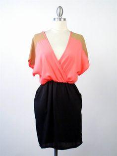 neon color block adella apparel