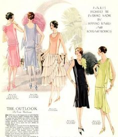 Learn the history of formal dresses and evening wear. Sleeveless evening gowns with elaborate beading, sequins, fringe and sometimes feathers. 1920s Evening Dress, Evening Dress Patterns, 1920s Dress, Evening Dresses, 1920s Formal Dresses, Moda Art Deco, 1920s Looks, Party Dresses Online, Party Gowns