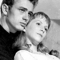 James Dean and Julie Harris