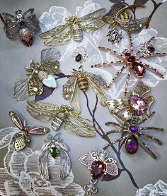 Insects brooches by TRIA ALFA. Created with Swarovski crystals. Brooches, Swarovski Crystals, Style Fashion, Insects, Create, Nature, Inspiration, Collection, Jewelry