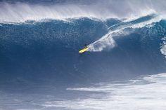 Kohl Christensen at Jaws. Photo by Fred Pompermayer #surfing