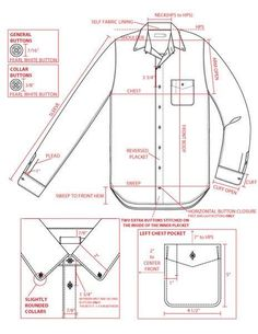Fashion sketches shirt technical drawings Ideas for 2019 Flat Drawings, Flat Sketches, Technical Drawings, Clothing Patterns, Sewing Patterns, Formation Couture, Mens Shirt Pattern, Shirt Sketch, Tech Pack