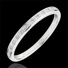 Alliance Eclats de diamant - or blanc et diamants (Alliances Mariage) : bijoux edenly