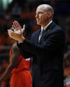Illinois Head Coach John Groce applauds from the bench during the second half of an NCAA college basketball game against Chicago State at the State Farm Center Friday, Nov. 22, 2013 on the University of Illinois campus in Champaign, Ill. Illinois won the game 77-53 to improve to 5-0. (Lee News Service/ Stephen Haas)