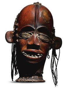Cross River Headdress, possibly Widekum, Nigeria Contains Red-flanked Duiker (cephalophus rufilatus) skin. wood, red-flanked