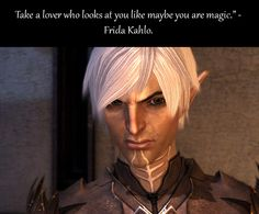 Somehow, I don't think this is what was implied. Heh. Fenris - Dragon Age 2