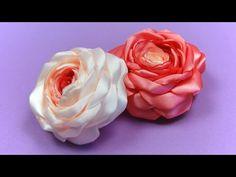 Розы из Лент своими руками / Satin Ribbon Rose Tutorial / ✿ NataliDoma - YouTube