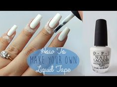 How To Make Your Own Liquid Tape or Peel Off Base Coat - YouTube
