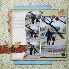 so serene...  I love everything about this layout-the wavy photos, the colors, the torn edges...!
