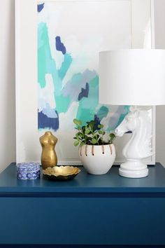 danielle oakey interiors: DIY Poster Board Abstract Art Tutorial!