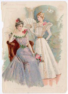 BIRDIE AND ZAN ACT III. or II. Women 1897-1899, Plate 024 :: Costume Institute Fashion Plates
