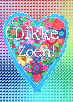 Liefde kaart Dikke Zoen! PA, verkrijgbaar bij #kaartje2go voor €0,99