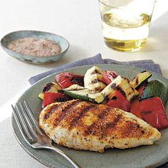 Spicy Herb-Rubbed Grilled Chicken | MyRecipes.com #myplate #protein