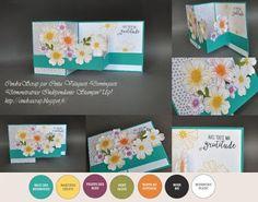 """CindraScrap: Carte """"Flower Shop"""" et """"Petite Petals"""" en double Z et son tutoriel."""