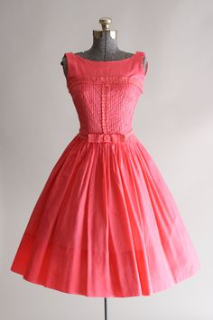 RESERVED...Vintage 50s Dress / 1950s Cotton by TuesdayRoseVintage