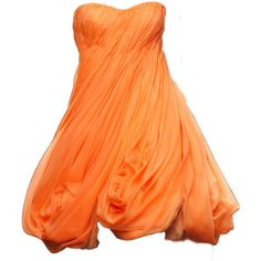 edited by Giada ❤ liked on Polyvore featuring dresses, vestidos, short dresses, gowns, short orange dress, orange mini dress, mini dress and orange dress