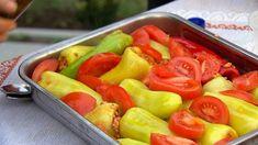Töltött paprika görög módra Hungarian Recipes, Viera, Fruit Salad, Fruit Salads