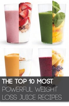 Top 10 Smoothies Boost your metabolism and pack your diet with powerful nutrients with these 10 weight loss juice recipes.Boost your metabolism and pack your diet with powerful nutrients with these 10 weight loss juice recipes. Oat Smoothie, Smoothie Drinks, Healthy Smoothies, Healthy Drinks, Healthy Snacks, Healthy Recipes, Juice Recipes, Healthy Fats, Fruit Smoothies