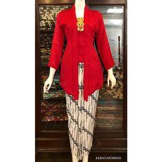 Off The Shoulder Stretch Velvet Portrait Collar Column Gown Kebaya Kutu Baru Hijab, Kebaya Kutu Baru Modern, Kebaya Muslim, Kebaya Brokat, Muslim Dress, Batik Fashion, Hijab Fashion, Fashion Dresses, Model Kebaya Modern