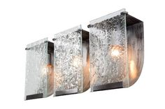 Best Bathroom Light Fixtures | Varaluz 160B03RN Rain 3Light Bath Light Rainy Night Finish with Recycled Pressed Rain Glass Shades 2234Inch by 10Inch by 412Inch -- Find out more about the great product at the image link. Note:It is Affiliate Link to Amazon.