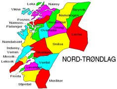 This page contains a map showing Nord-Trøndelag county and all the municipalities there. A table gives some basic information about every municipality. Personal History, Family History, Genealogy, Norway, Writing, Logos, Logo, Being A Writer