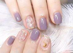 53 Most Stunning and Trendy Short Nails - Page 37 of 53 - lovemxy nail jenner nail wedding nail nail nail nail Stylish Nails, Trendy Nails, Cute Nails, Simple Gel Nails, Soft Nails, Korean Nail Art, Asian Nail Art, Korean Nails, Beauty Nail