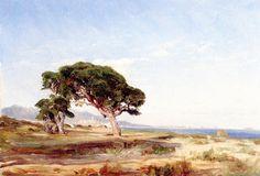 Felix-Francois-Georges-Philbert Ziem -  Paysage des environs de Cagnes,1845-1846