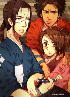 """cottonfist: """"SOME LIVE SOME DIE IN THE WAY OF DA SAMURai these guys are absolutely my favorite trio (other than my ergo proxy babies) """""""