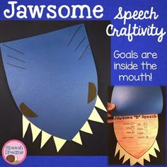 Jawsome Shark Speech Craftivity {language & articulation craft}