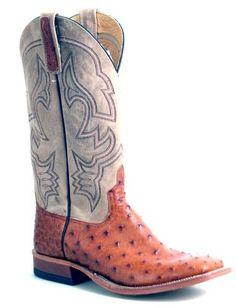 Anderson Bean Brandy Full Quill Ostrich Ladies Boots