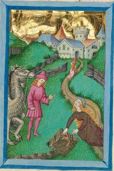 Furtmeyr-Bibel (Deutsche Bibel, Altes Testament, Bd. 1: Genesis - Rut) um 1468 - 1470 Sign. Cod.I.3.2.III (Oettingen-Wallersteinsche Bibliothek) Folio: 22v