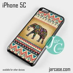 Aztec Elephant Vintage Background Phone case for iPhone 5C and other iPhone devices