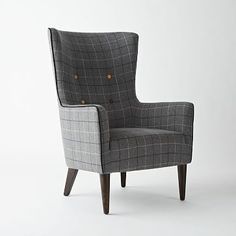 Victor Chair - Plaid #westelm