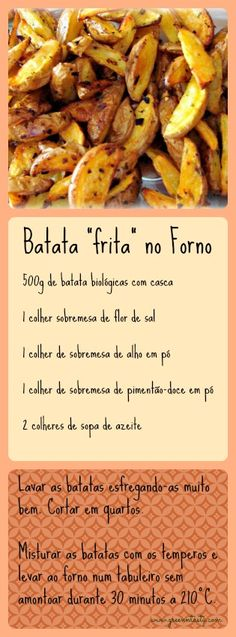 "Batata ""frita"" no Forno | Green n' Tasty"