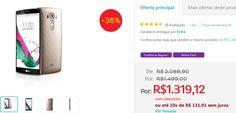 """Smartphone LG G4 Dual Chip H818P Tela de 5.5"""" Android 5.0 4G Câmera 16MP e Processador Hexa Core de 1.8 GHz << R$ 131912 em 10 vezes >>"""